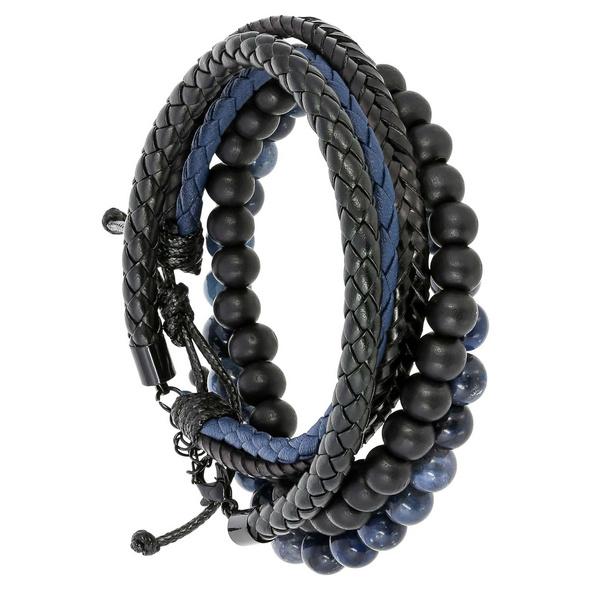 Armband-Set -  Blue Leather