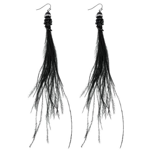 Ohrhänger - Black Feather