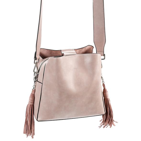 Handtasche - Rosé Fringes
