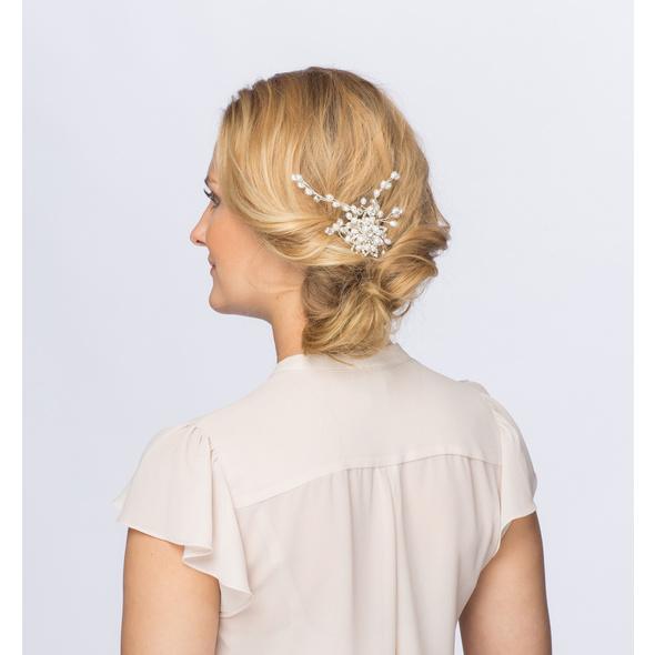 Haarkamm - White Flower