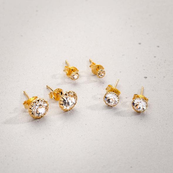 Ohrstecker-Set - Luxury Crystals