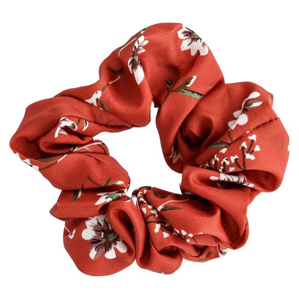 Haargummi - Red & White Flower