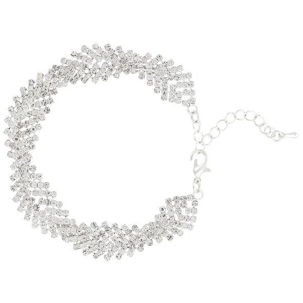 Armband - Wide Silver Sparkle