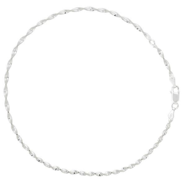 Fußkettchen - Silver Twirl