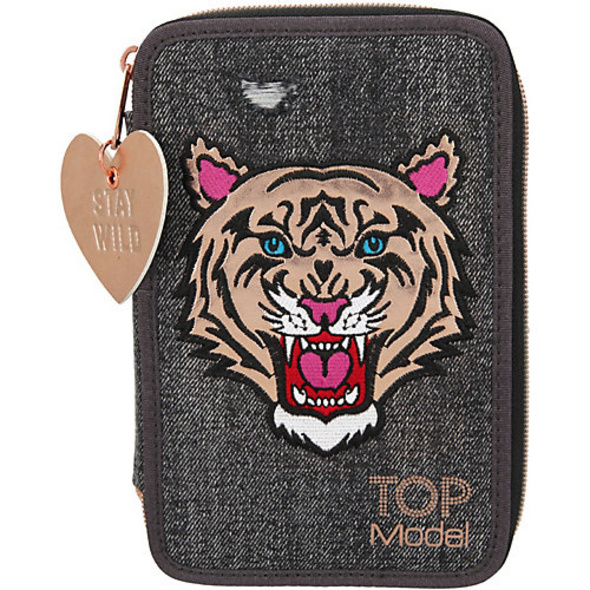 TOPModel Triple-Federmäppchen Tiger Jeans