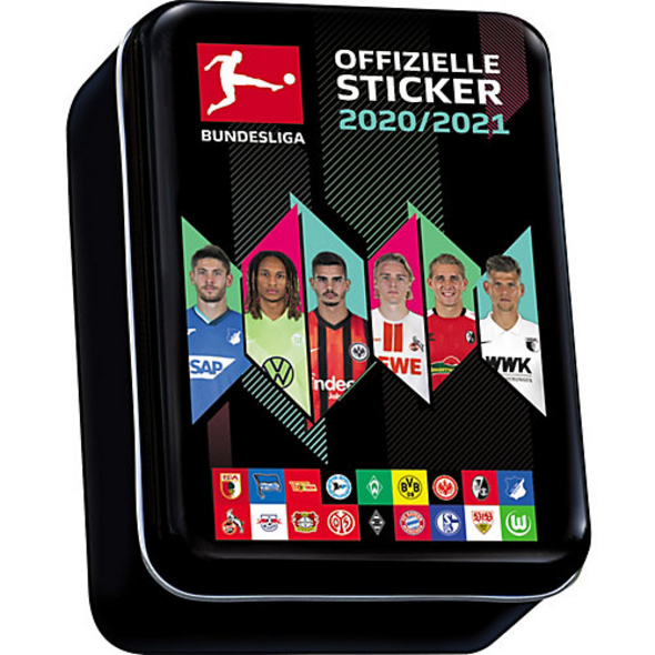 Bundesliga Sticker MINI-SAMMELDOSE Saison 2020/2021