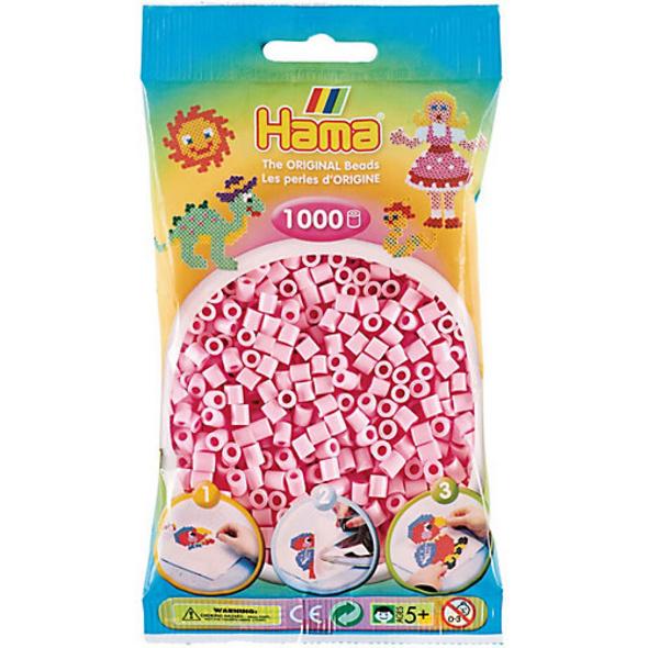 HAMA 207-95 Beutel midi-Perlen, 1.000 Stück, Pastell-Rosé