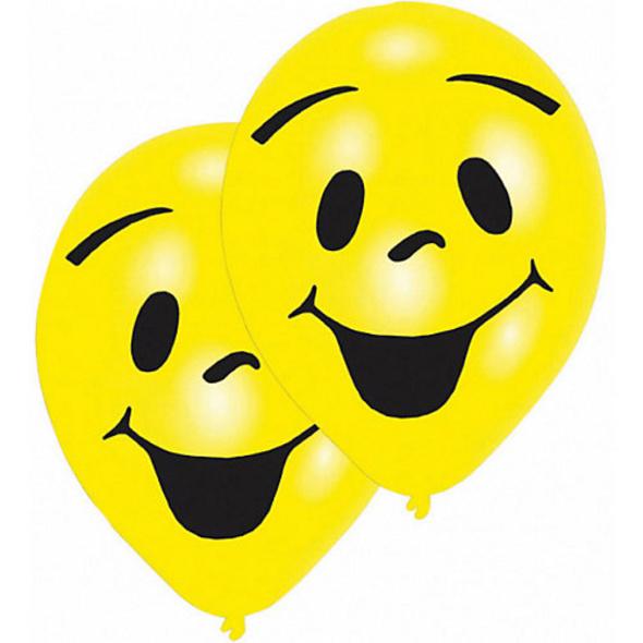 Ballons Smiley, 8 Stück