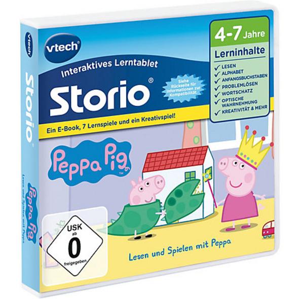 Storio Peppa Pig E-Book mit 7 Lernspielen & 1 Kreativspiel