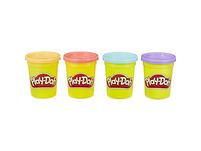 Play-Doh 4er Pack SWEET (orange, pink, hellblau und lila), 4 x 112 g