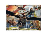 Puzzle, 150 Teile XXL, 49x36 cm, Dragons: Drachenzähmen leicht gemacht