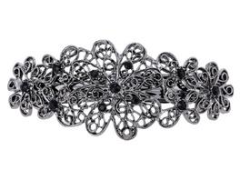 Haarspange - Grey Flower