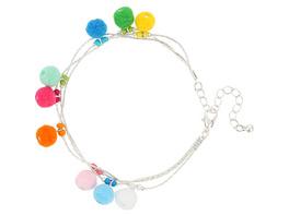 Fußkette - Colorful Pompoms