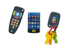 3er-Set: Schlüssel, Fernbedienung, Smartphone