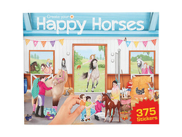 Stickerbuch Create your Happy Horses
