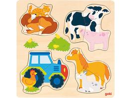 Einlegepuzzle Bauernhoftiere