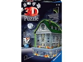3D-Puzzle Gruselhaus bei Nacht, 216 Teile