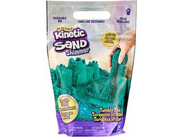 Kinetic Sand Schimmersand Petrol, 907 g blaugrüner Glitzersand für Indoor-Sandspiel