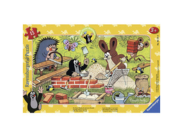 Rahmen-Puzzle, 15 Teile, 25x14,5 cm, Der Maulwurf + Freunde