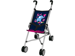 myToys-Collection Puppen-Buggy, blau/pink